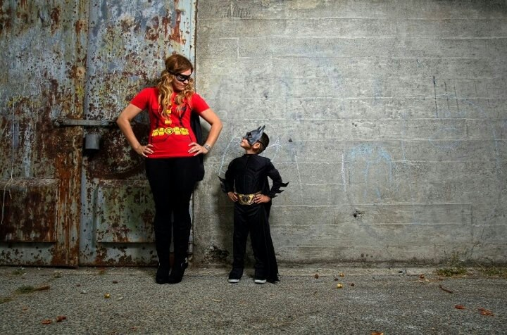 Cute mommy and son idea. If he's Batman, im his Robin for single moms