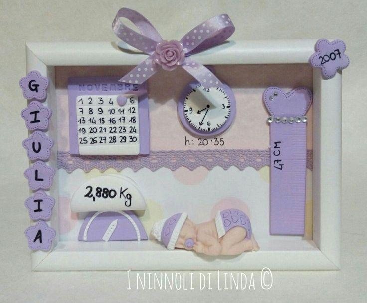 Tavolo nascita ~ Best quadretti nascita baby images fimo gift