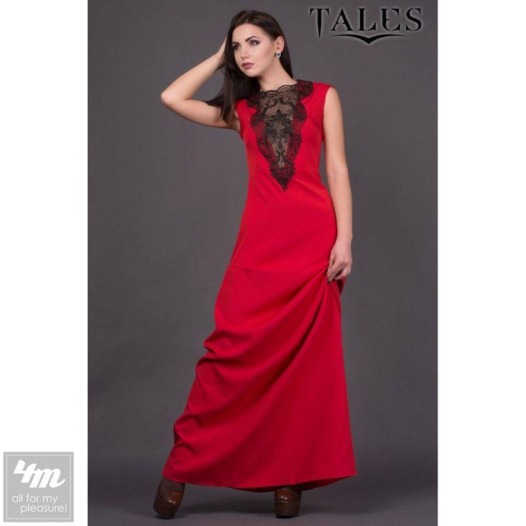 Платье Tales «Fiesta» (Красный) http://lnk.al/3ssg  Очаровательное макси платье из приятной к телу костюмной ткани.