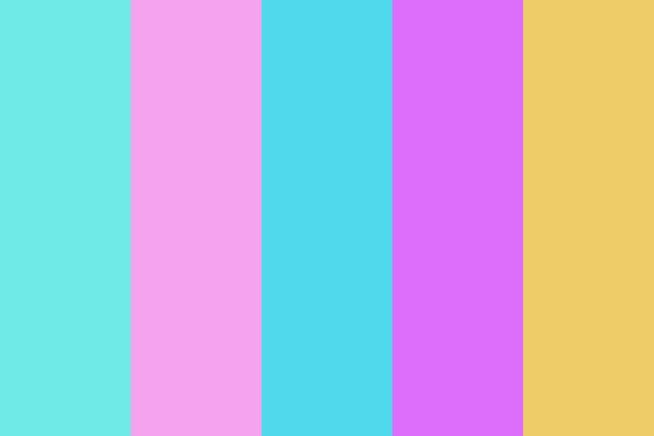 Vaporwave #1 Color Palette | colorscheme in 2019 ...