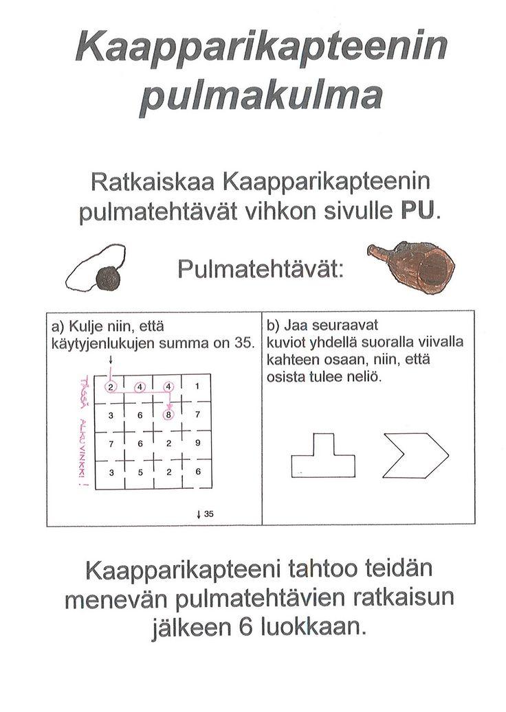 Kaapparikapteenin iltakoulu (tai yökoulu) - Kaapparikapteenin pulmakulma.