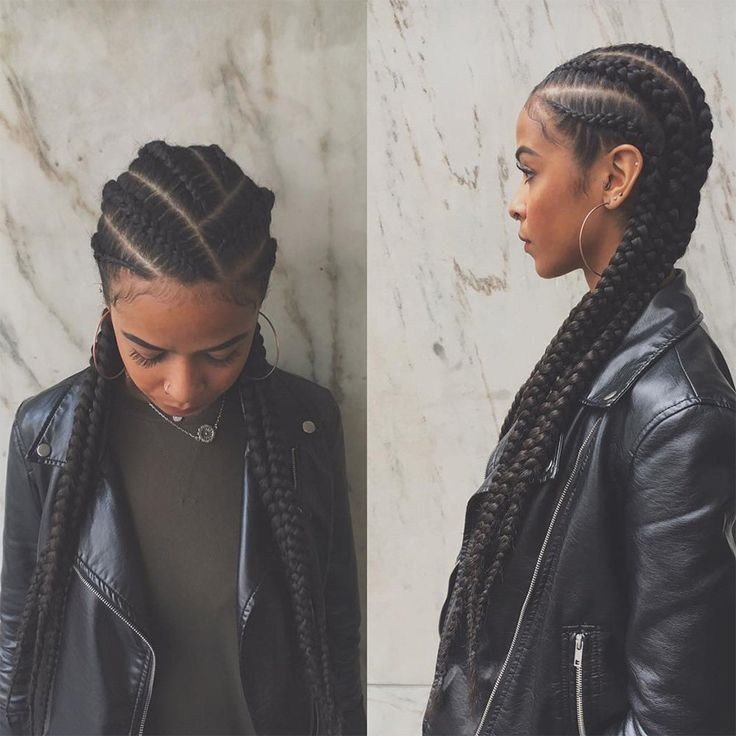 Black Braided Hairstyles 332 Best Feed In Braids  Ghana Braids  Stitch Braids Images On