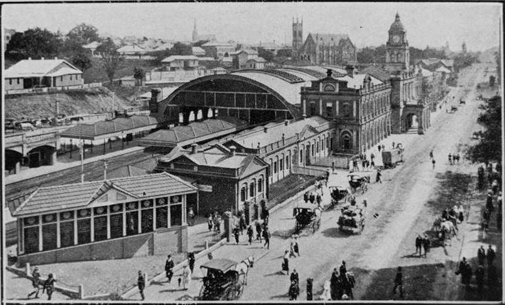 Picture of / about 'Ann Street' Queensland - Central Railway Station, Ann Street, Brisbane, ca. 1910