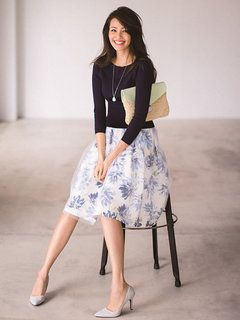 JUSGLITTY(ジャスグリッティー)   ファッション通販【ファッションウォーカー】 : スカート > フラワープリントチュールスカート