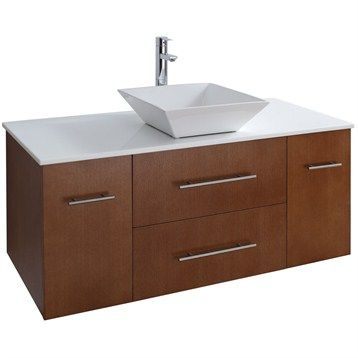 Bianca 48 Quot Wall Mounted Modern Bathroom Vanity Pear Wood