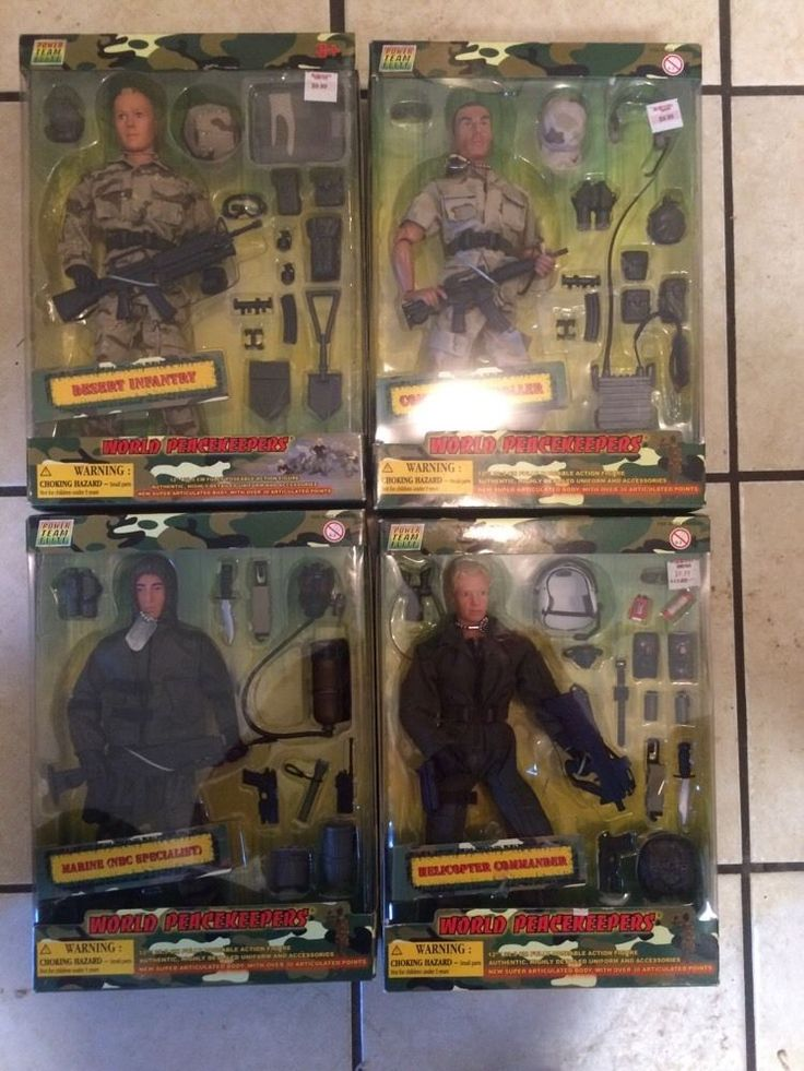 Lot Of 4 World Peace Keepers-Power Team Elite-12in-1/6 ...