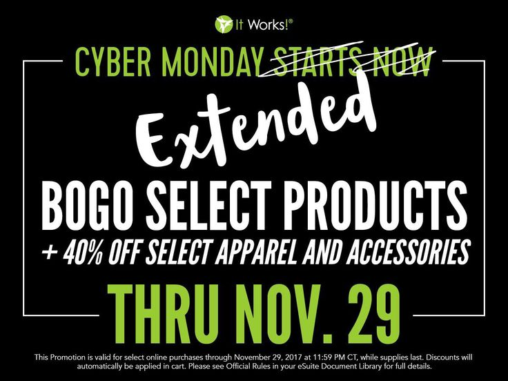 Cyber Monday Extended‼️ | Cristina Duran | Distributor at It Works Global