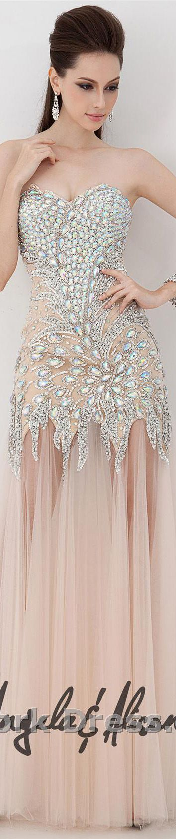 Angela and Alison design #formal #large #strapless #bejeweled #sexy #dress ♥