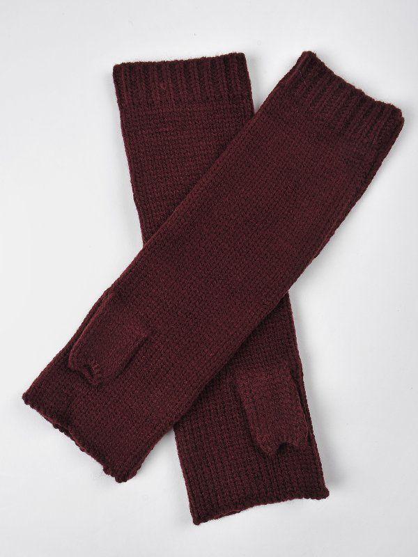 Rękawiczki damskie bordowe  - rękawiczki bez palców - DRYWASH. DRE0009 Świetna jakość, rewelacyjna cena, modny krój. Idealnie podkreśli atuty Twojej figury. Obejrzyj też inne rękawiczki tej marki.