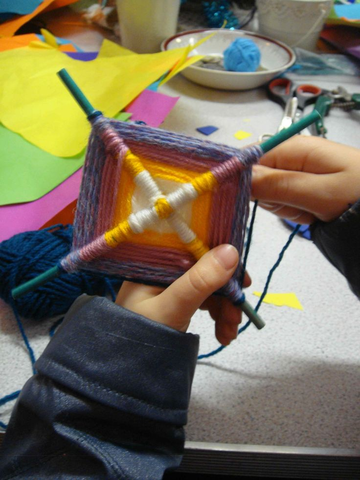 Kids crafts.. I remember making these with my mom when I was younger. :-)