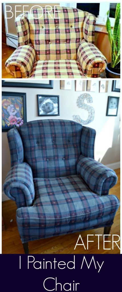 I Painted My Upholstered Chair -