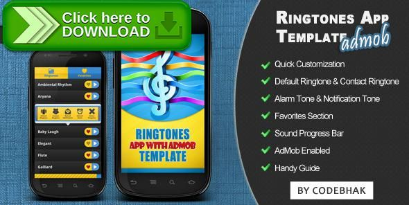 [ThemeForest]Free nulled download Ringtones App Template with AdMob from http://zippyfile.download/f.php?id=52711 Tags: ecommerce, android, android app source code, android ringtones application, playlist app, ringtones, ringtones app code, ringtones app source code, soundboard
