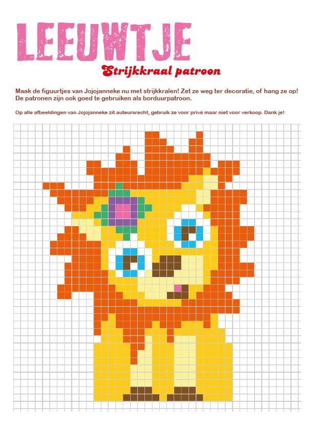 strijkkraalpatroon leeuw