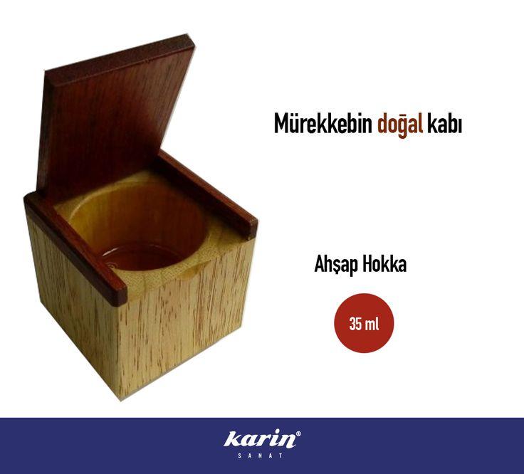Ahşap Hokka   karinsanat.com #hokka #mürekkep #sanatmalzemeleri #karinsanat #artmaterial #calligraphy
