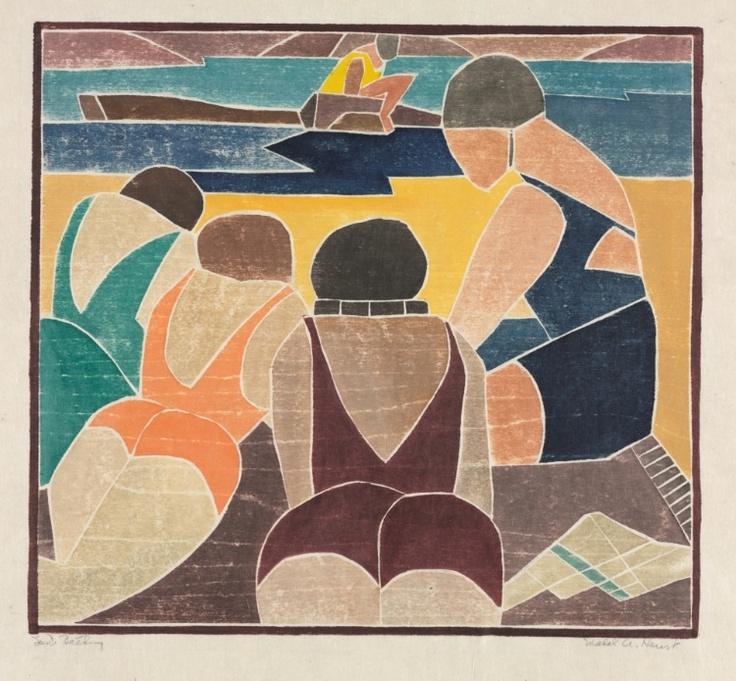 Mabel A. Hewit - Sun Bathing - 1937