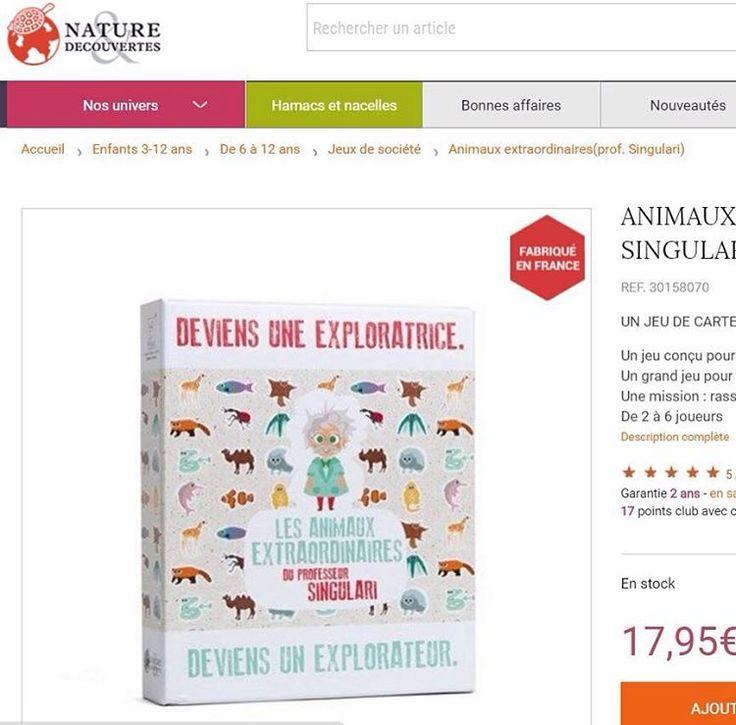 """Le Professeur s'offre un joli macaron #madeinfrance sur le site de Nature et Découvertes !  Pour découvrir le Jeu, rendez-vous sur www.NatureetDecouvertes.com Pianotez """"Singulari"""" ou """"Animaux Extraordinaires"""" dans la barre de recherche !  #madeinfrance #ideecadeau #jeu #enfants #natureetdecouvertes #professeursingulari #animaux #fun #cute #love #jeudesociete #igerslyon #createurslyon #pandaroux #ecureuil #dauphin #mif #new #cadeau #anniversaire #perenoel #jeu #jeudecartes #rigolo #jeunesse…"""