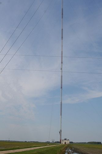 KVLY TV Mast Antenna, ND. Tallest TV mast