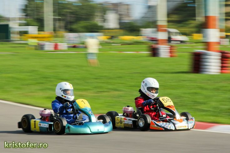 #Matia58 fighting for lead in Bacau #SpeedparkBacau race July 2013. #kidkarting