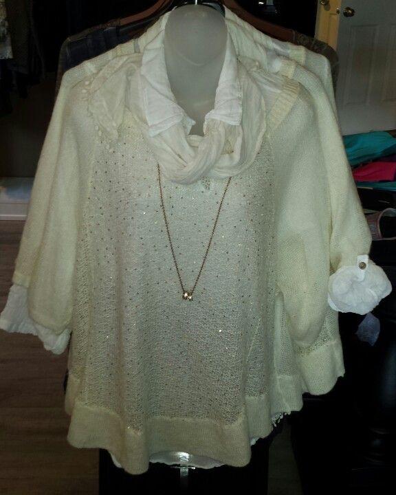 Two piece sweater by Bella by Cassie www.jazmineharbour.ca