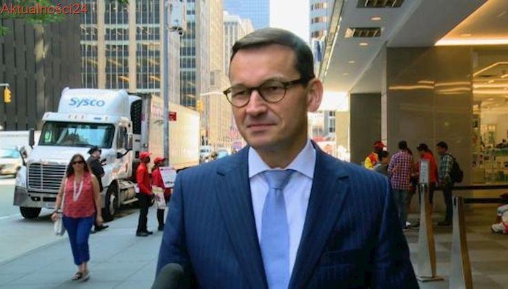 Wicepremier Morawiecki w Nowym Jorku: liczę na nowe miejsca pracy