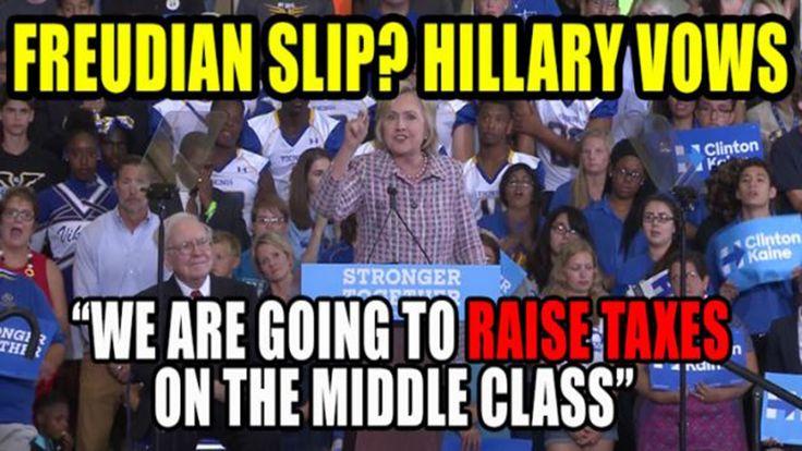 ►Hillary Clinton RAISES TAX ON THE MIDDLE CLASS►Rising Obama help Hillar...
