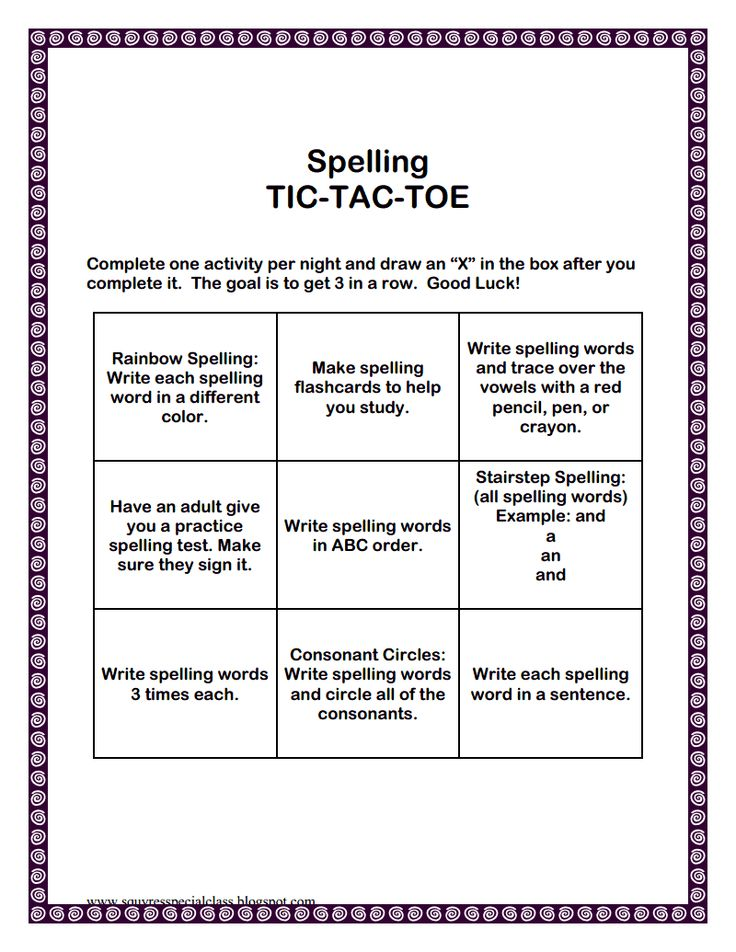 20 best Spelling images on Pinterest Spelling ideas, Spanish - sample tic tac toe template