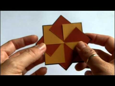 Pinwheel to spinwheel!  shows how to make the pinwheel spin for added interest! simple to do