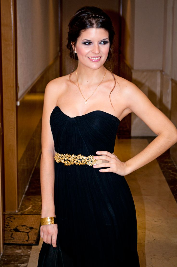 Black dress gold belt - Black Dress Gold Belt