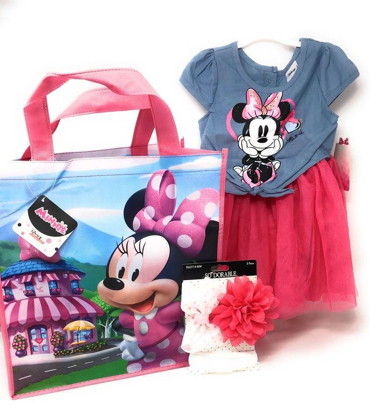 Disney Minnie Mouse Dress Girls Toddler Sz 18 Months Pink & Blue Jean Color NWT #Disney #Tutu #CasualFormalParty