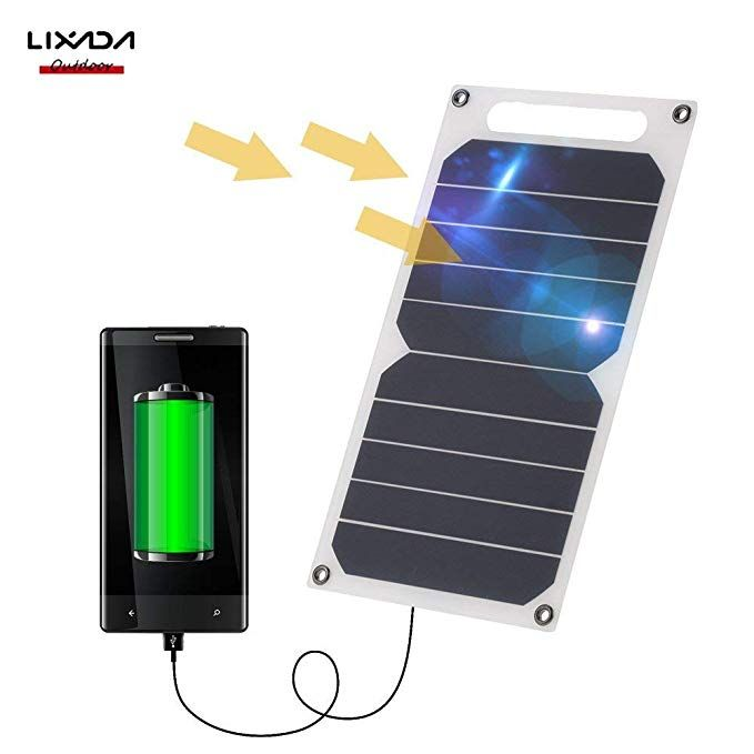 Amazon Com Lixada 10w Solar Panel Charger 5v Usb Ports For Cell Phone High Effiency Outdoor Activities L Solar Panel Charger Solar Power Charger Solar Charger