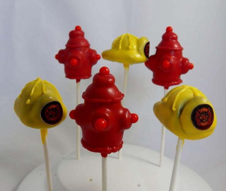 Fire Department Cake Pops Recipes Pinterest Fireman