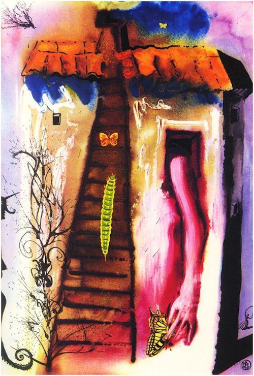 Rare Vintage Illustrations of 'Alice In Wonderland' By Salvador Dali