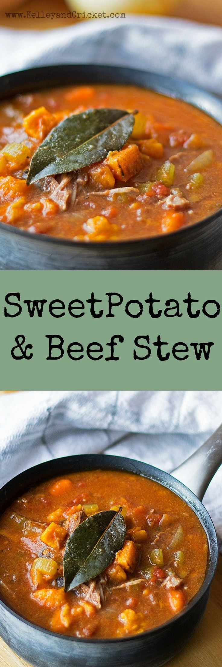 Beef and Sweet Potato Stew Collage