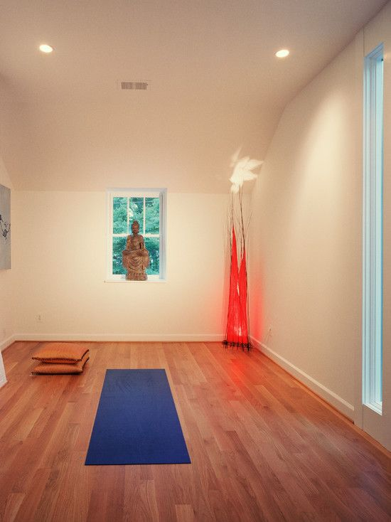 47 best images about home gym inspiration on pinterest for Small yoga room ideas
