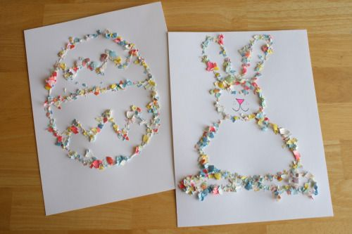 Crushed Egg Shell Craft - this idea but using an emu