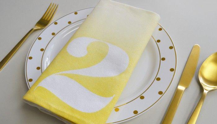 DIY Kit: Numbered ombre napkins