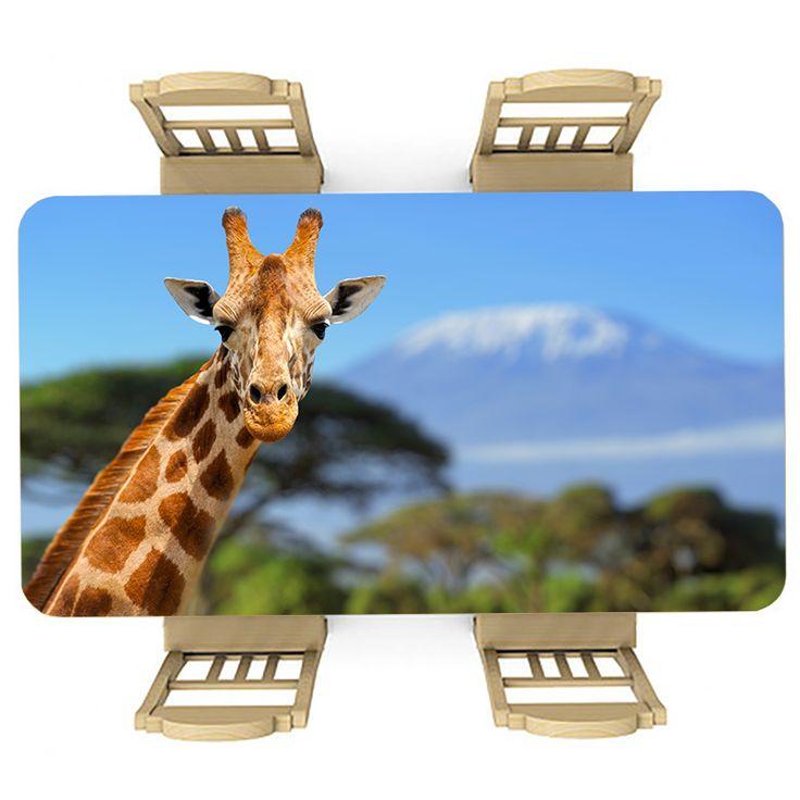 Tafelsticker Giraf | Maak je tafel persoonlijk met een fraaie sticker. De stickers zijn zowel mat als glanzend verkrijgbaar. Geschikt voor binnen EN buiten! #tafel #sticker #tafelsticker #uniek #persoonlijk #interieur #huisdecoratie #diy #persoonlijk #afrika #afrikaans #safari #giraf #giraffe #natuur #dier