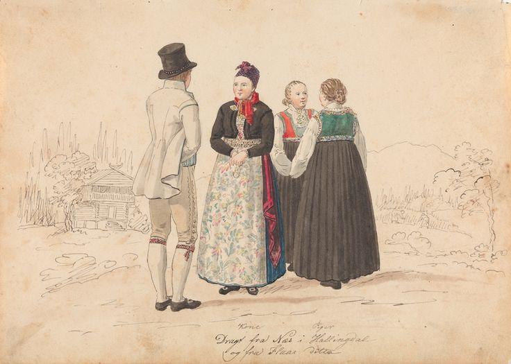 1819 eller 1822. Penn og akvarell på papir