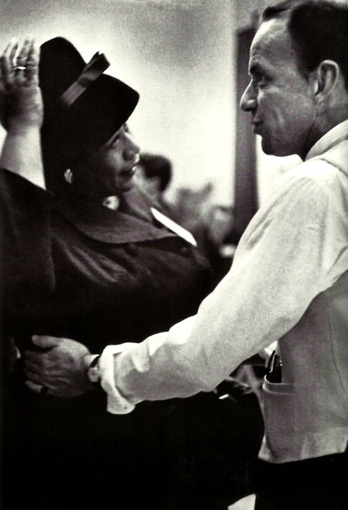 Ella Fitzgerald and Frank Sinatra---Great Friends and Mutual Admiration Here In These Two Unforgettable Voices & Music Legends...The Lady Was No Tramp & The Guy Definitely Did It His Way...What A Pairing...What A Shot...