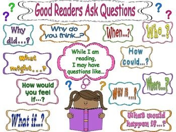 "READING WORKSHOP ANCHOR CHART & STUDENT BOOKMARKS - ""GOOD READERS ASK QUESTIONS"" - TeachersPayTeachers.com"