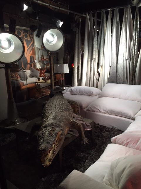 #alligator #london #andrewmartin #interiordesign #decor showroom #fabric #textile #homefurnishings #neutral #sofa