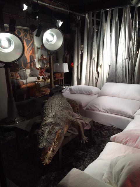 #alligator #london #andrewmartin #interiordesign #decor showroom #fabric #textile #homefurnishings #neutral #sofa
