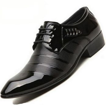 Black n white dress shoes medium