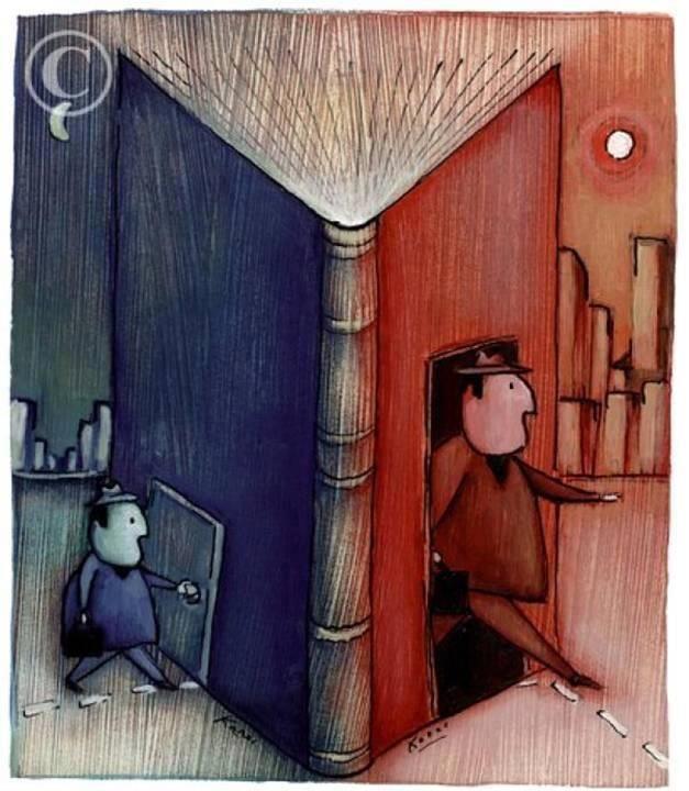 Kitap okumak insanı geliştirir.