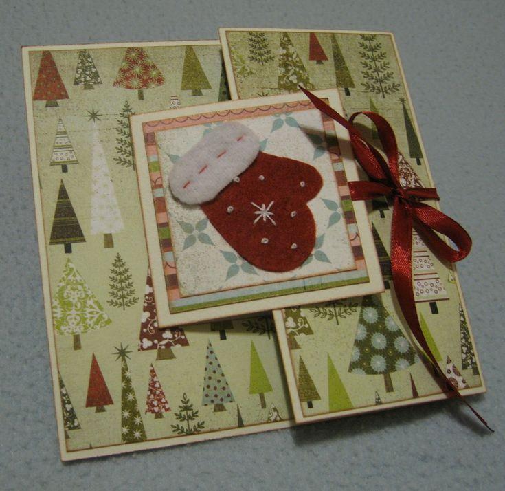 маленькие новогодние открытки скрапбукинг