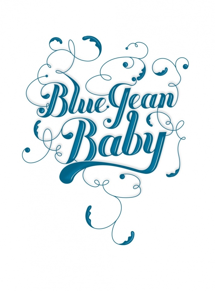 Lovely Lettering Type with Flourishes // Blue Jean Baby by Steven Bonner
