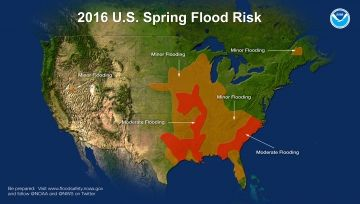 Spring flood risk map 2016 (NOAA)