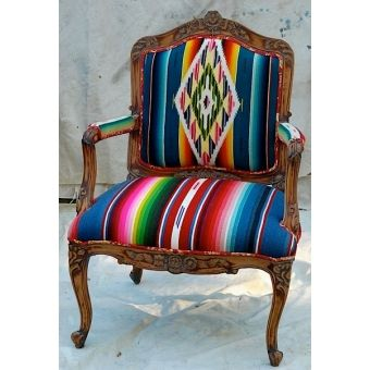 Vintage 1930's Serape Chair - idea for covering chairs