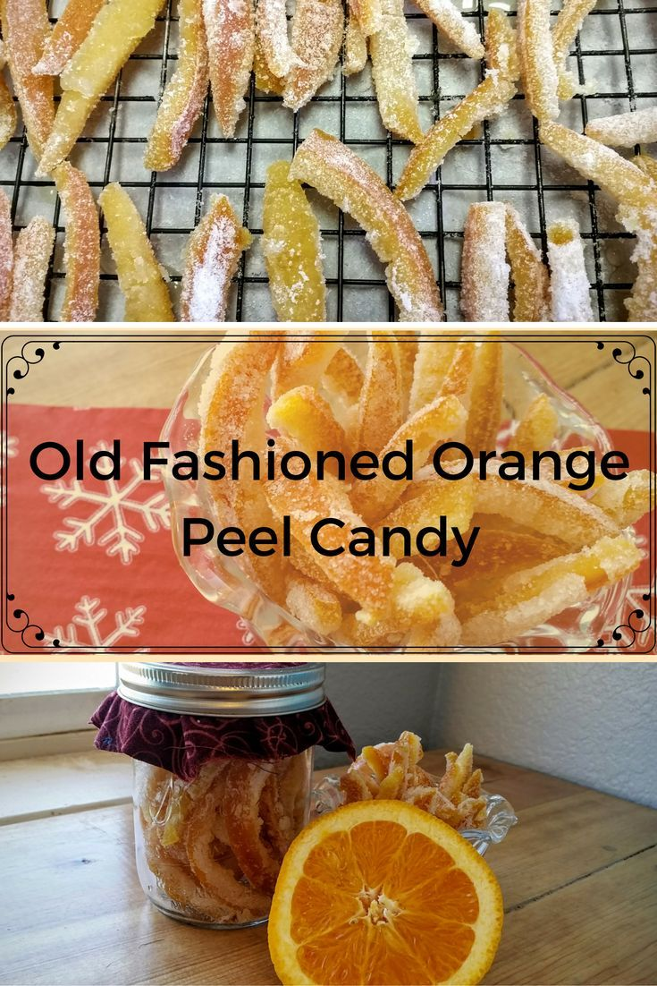 This Old Fashioned Orange Peel Candy has been a family tradition is my family as far back as when my grandmother was a child.