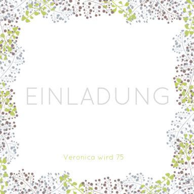 Stilvolle Einladungskarte In Pastell Farben Mit Feinem Blütenrahmen. Nur  Eigene Texte Einsetzen! (